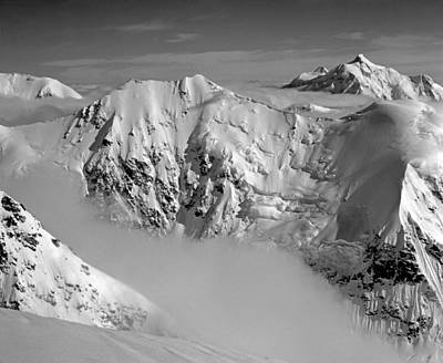 Photograph - T-501314-bw-the Kahiltna Peaks, Ak by Ed  Cooper Photography