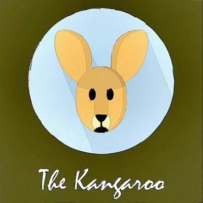Kangaroo Painting - The Kangaroo Cute Portrait by Florian Rodarte
