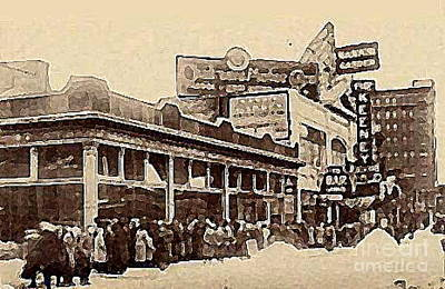 The Keeney Theatre In Newark N J In Winter 1914  Art Print
