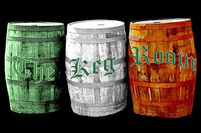 Vine Photograph - The Keg Room Irish Flag Colors Old English Hunter Green Wave by LeeAnn McLaneGoetz McLaneGoetzStudioLLCcom
