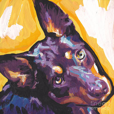 The Kelpie Kutie Art Print by Lea S
