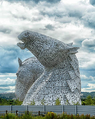 The Kelpies Print by Alan Toepfer