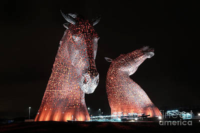 Sculpure Photograph - The Kelpies by Alex Todd
