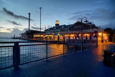 Pier Digital Art - The Kemah Boardwalk by Linda Unger