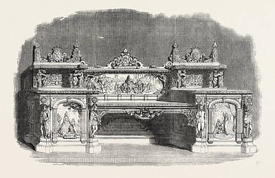 Buffet Drawing - The Kenilworth Buffet by Messrs. Cookes, English, 19th Century