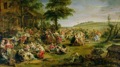 Rustic Scenes Photograph - The Kermesse, C.1635-38 Oil On Panel by Peter Paul Rubens