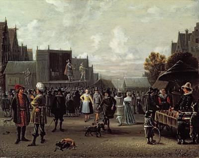 The Kermesse Art Print by Sybrandt van Beest