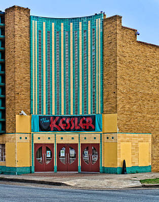 Photograph - The Kessler Movie Theater by David and Carol Kelly