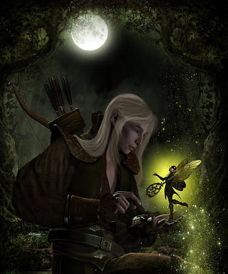 Elven Digital Art - The Key Bargain by Suzanne Amberson