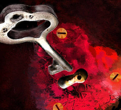 Art Miki Digital Art - The Key To My Heart by Miki De Goodaboom