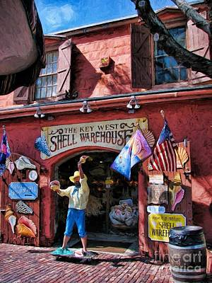 Photograph - The Key West Shell Warehouse by Peggy Hughes