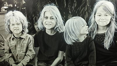 Scott Robinson Painting - The Kids by Scott Robinson