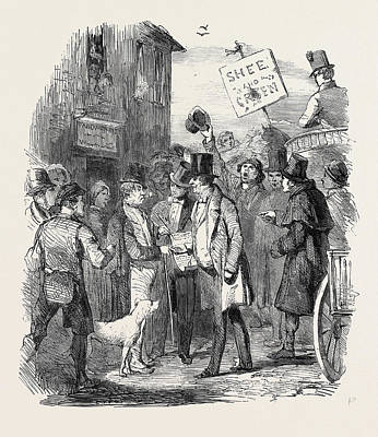 The Kilkenny Election, Canvassing For Votes Print by English School