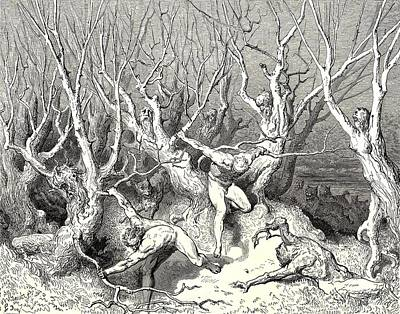 Inferno Digital Art - The  Killing Trees From Dantes Inferno by Gustave Dore