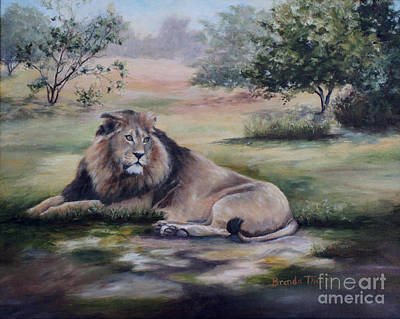 Painting - The King by Brenda Thour