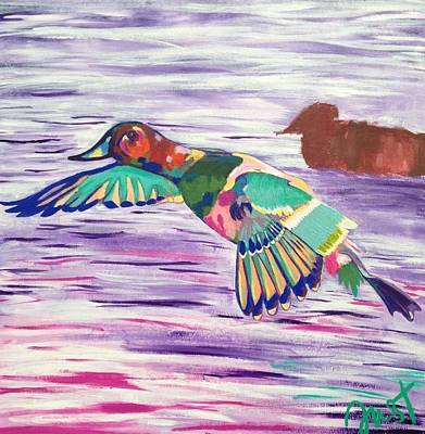 Painting - The King Canvasback by Janice Westfall