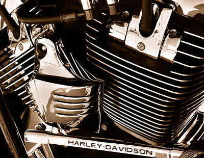 The King - Harley Davidson Road King Engine Print by Steven Milner