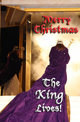 Photograph - The King Lives Christmas Card1 by Terry Wallace