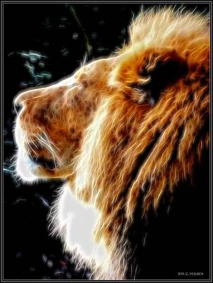 Photograph - The King Of Beasts by Jon Volden