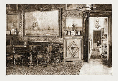 Athens Drawing - The King Of Greeces Study In The Palace At Athens by Litz Collection
