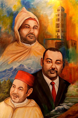 Painting - The King Of Morocco by Patricia Rachidi