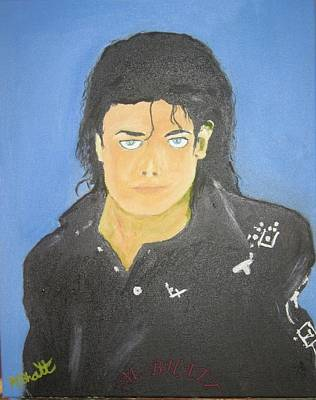 The King Of Pop Art Print