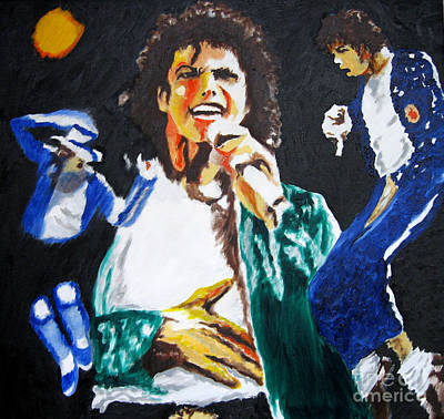The King Of Pop Michael Jackson Art Print by Ronald Young