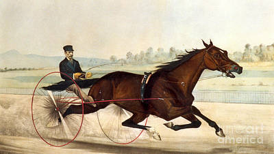 Currier And Ives Painting - The King Of The Turf by Currier And Ives