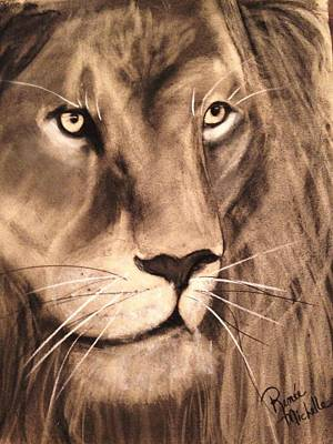 Drawing - The King by Renee Michelle Wenker