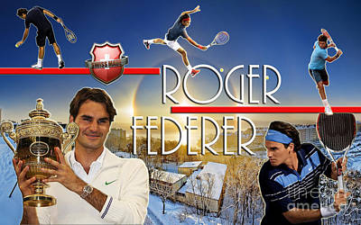The King Roger Federer Art Print by Christopher Finnicum