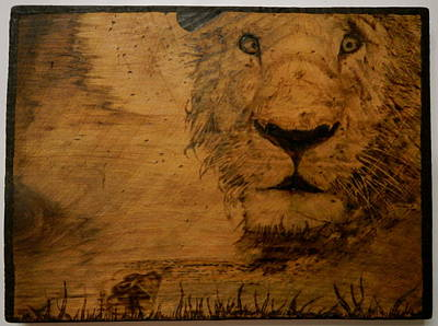 Pyrography On Wood Pyrography - The King by William Waters