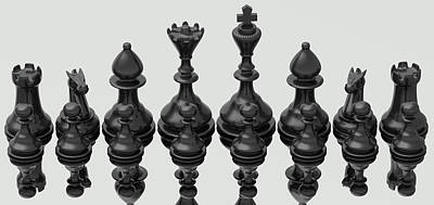 Chess Player Digital Art - The Kingdom  by Nogoud Fwete