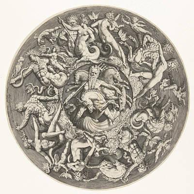 The Kingdom Of Neptune, Jacob De Gheyn Jacob II Art Print by Jacob De Gheyn Jacob Ii And Hendrick Goltzius