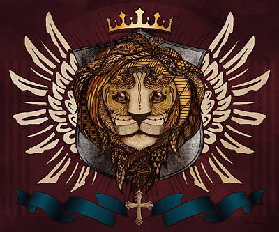 The King's Heraldry Art Print by April Moen