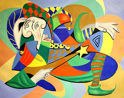 Painting - The Kings Jester by Anthony Falbo