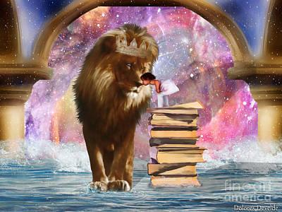 Lion Of Judah Digital Art - The Kings Kiss by Dolores Develde