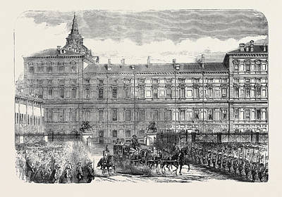 The Kings Palace Turin Art Print by English School