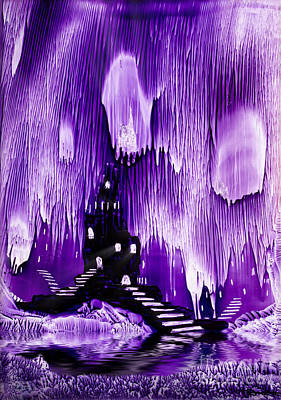 Alien Landscapes Painting - The Kings Purple Castle Painting In Wax by Simon Bratt Photography LRPS