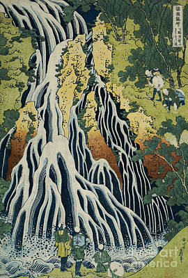 Rivers In The Fall Painting - The Kirifuri Waterfall by Hokusai