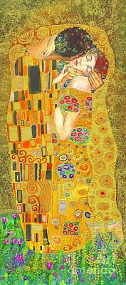 The Kiss After Klimt Art Print by Kate Bedell