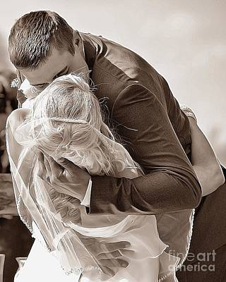 Photograph - The Kiss by AK Photography
