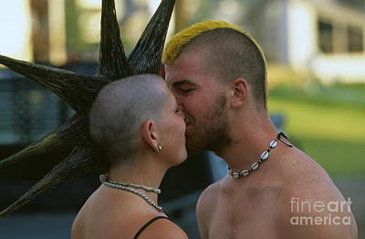 Mohawk Hairstyle Photograph - The Kiss by Chris Selby