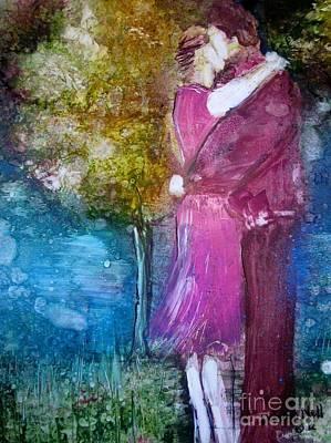 The Kiss Art Print by Deborah Nell