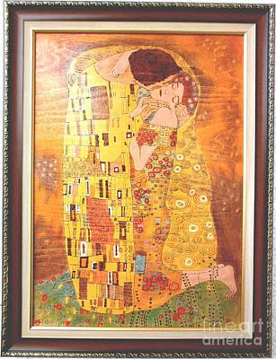 The Kiss Gustav Klimt Original Fine Art Original