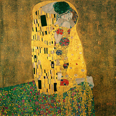 Kisses Digital Art - The Kiss by Gustive Klimt