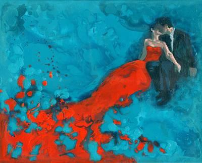 The Kiss Art Print by Heidi Joyce