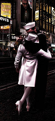 The Kiss In Times Square Art Print by Evie Carrier