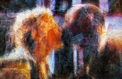 Mixed Media - The Kiss by Jim Vance