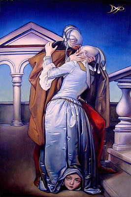 Satin Dress Painting - The Kiss Of Unrequited Love by Patrick Anthony Pierson