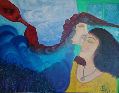 Painting - The Kiss by Tracy Truong